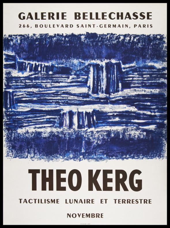 1959 Lithographie pour l'affiche de l'exposition « Tactilisme lunaire et terrestre» à la Galerie Bellechasse à Paris en 1959