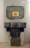 1963 Q-jaune le solitaire, œuvre tactiliste, 113 x 65 cm