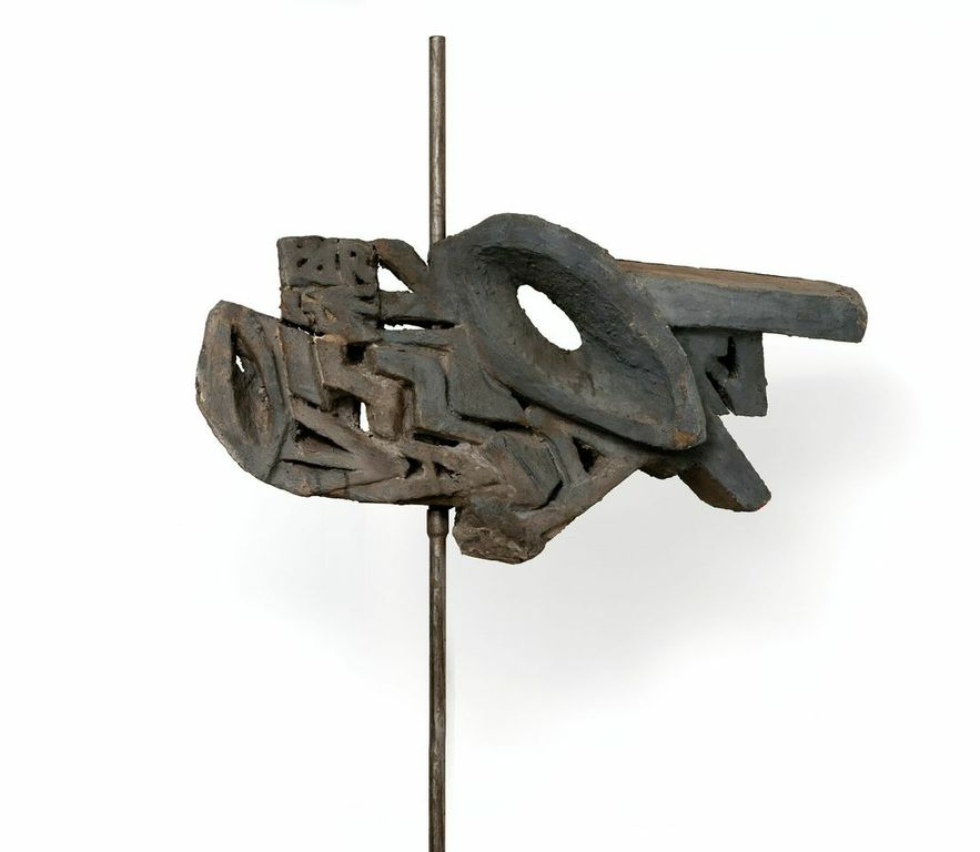 1963 L'Oiseau béton, oeuvre exposée au Cercle-Cité en 2013-2014