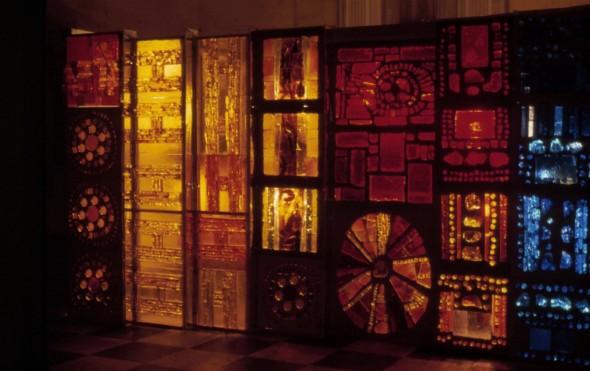 1971 Habiter le vitrail, exposition aux Halles Baltard Paris, Pavillon