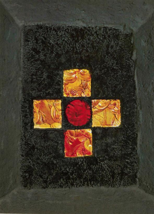1961 Chemin de croix Neckarhausen, Jesus nimmt das Kreuz auf seine Schultern