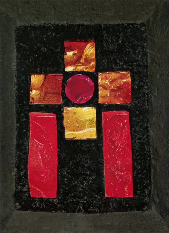 1961 Chemin de croix, Neckarhausen Simon von Kyrene wird gezwungen, Jesus zu helfen