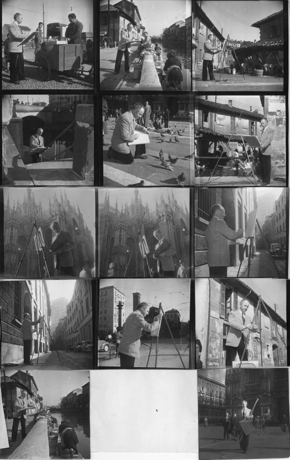 Théo Kerg a Milano, foto ultima pagina-giornale, Italia