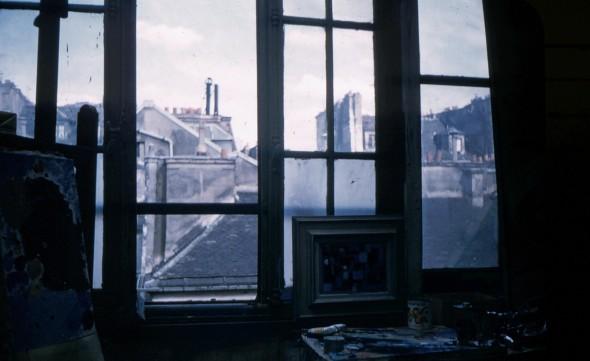 Atelier de Théo Kerg en 1955 à Paris