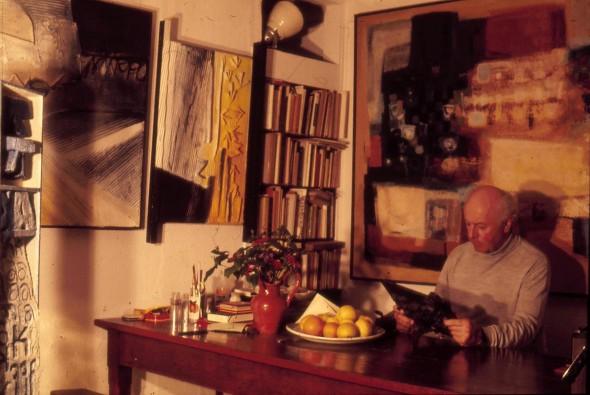 Théo Kerg dans son duplex à Paris 203, rue St. Honoré