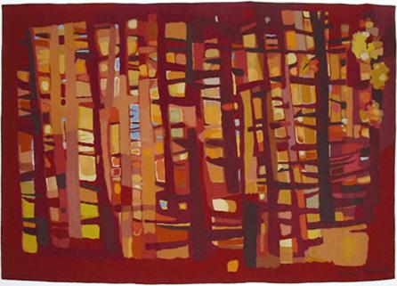 1955 Les Arbres en automne, tapisserie, 176 x 122 cm, carton Théo Kerg, éditeur Mme Suzanne Goubely, Aubusson