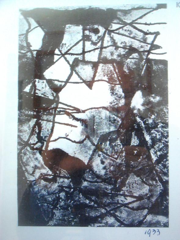 1933  Dessin publié dans le cahier no.4 de 1935, page 16, du mouvement « abstraction-création »