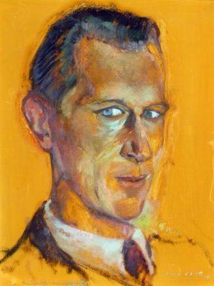 1941 Portrait de Carlo Kaufhold (Premier violon, Orchestre Radio-Télé Luxembourg  (16.6.1913-30.4.1979)