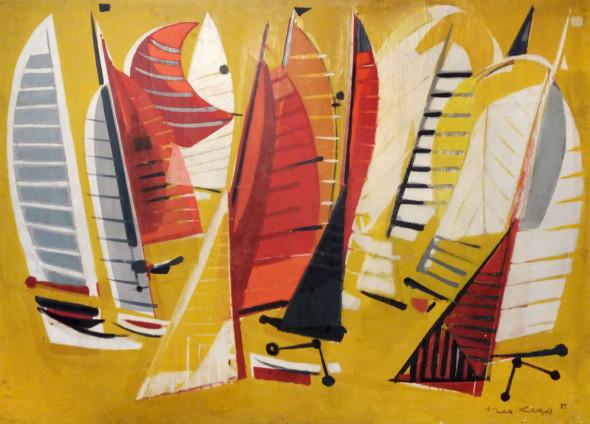 1955 Le Départ, huile sur toile, 206 x 148 cm
