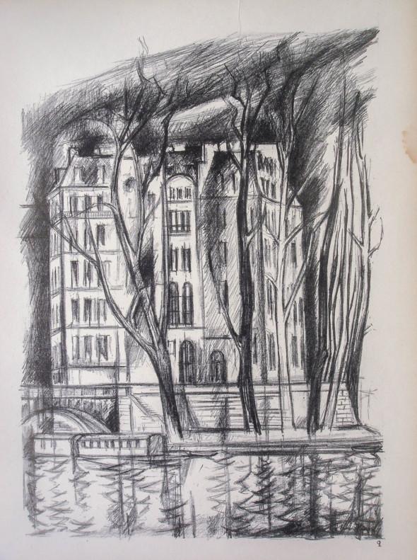 1947  Paris 02, L'île Saint-Louis, litho, 10.11.1047