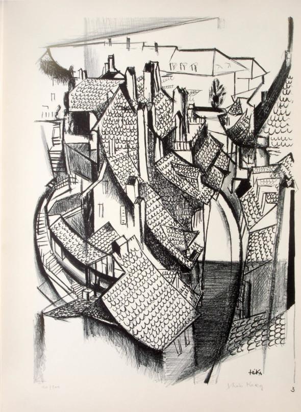 1947  Berne 03, L'étreinte des ruelles, litho, 1.10.1947