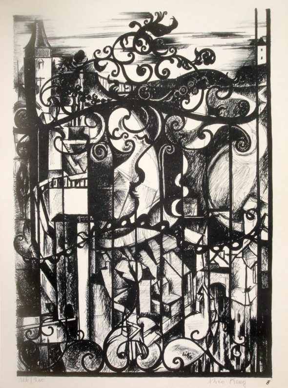 1947  Fribourg 06, Dentelle architecturale, litho, 1.10.1947