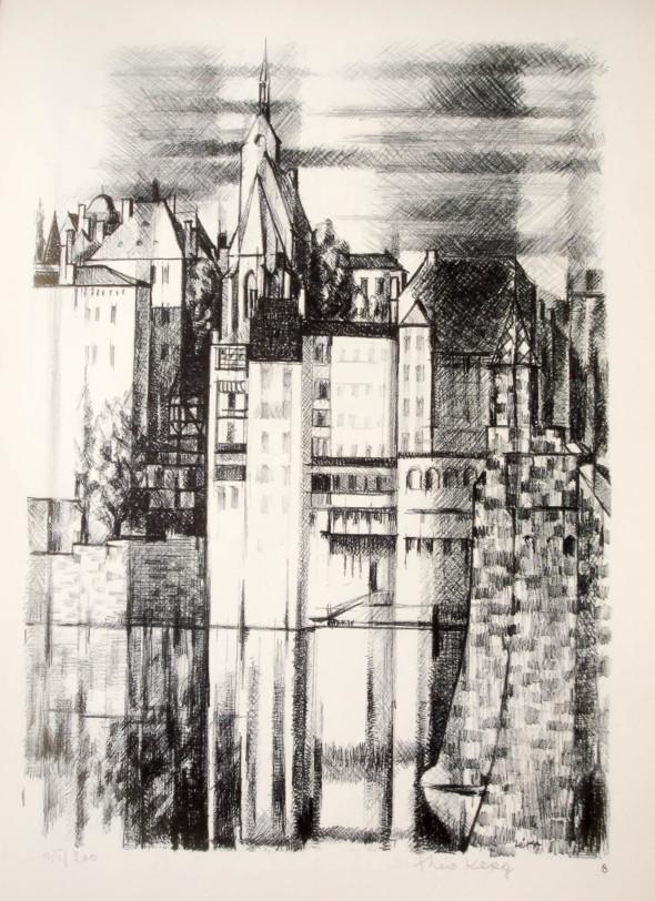 1947  Bâle 08, L'orgue, litho, 1.10.1947