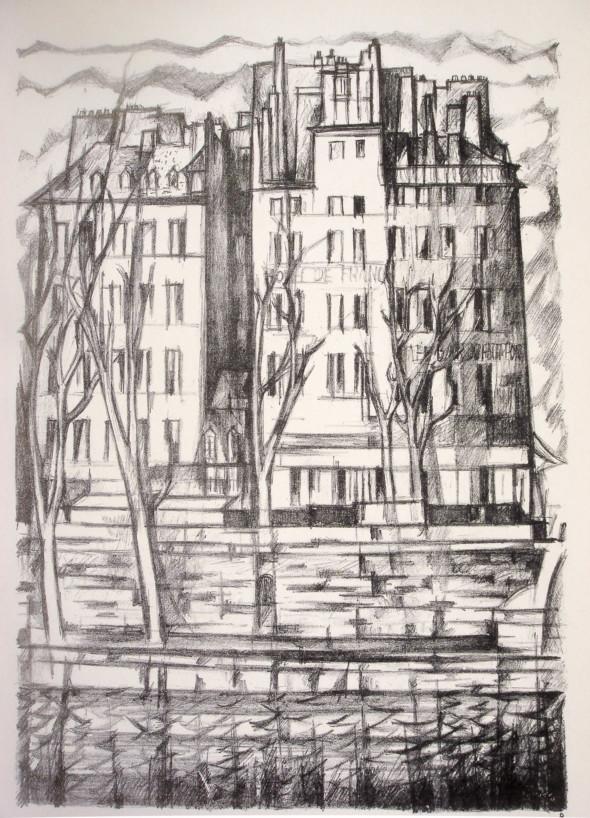 1947  Paris 08, Sur le Petit Pont, litho, 10.11.1947