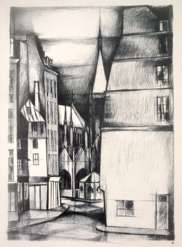 1947  Paris 09, Saint Severin, litho, 10.11.1947