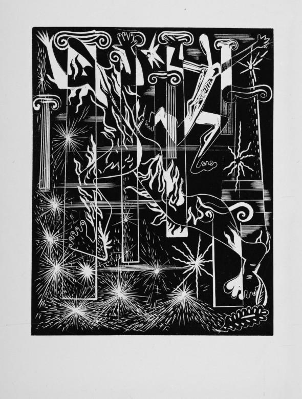 1947 03 Bois gravé, illustration du poème – La dernière nuit