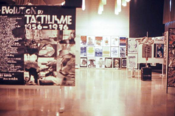 1976 La Seyne sur mer, exposition naissance et évolution du tactilisme
