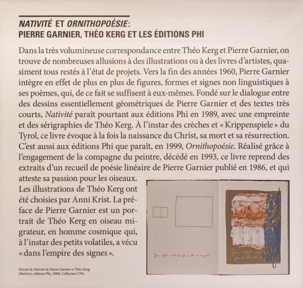21 – Extrait de Nativité de Pierre Garnier et Théo Kerg (Herborn, éditions Phi, 1989), collection CNL