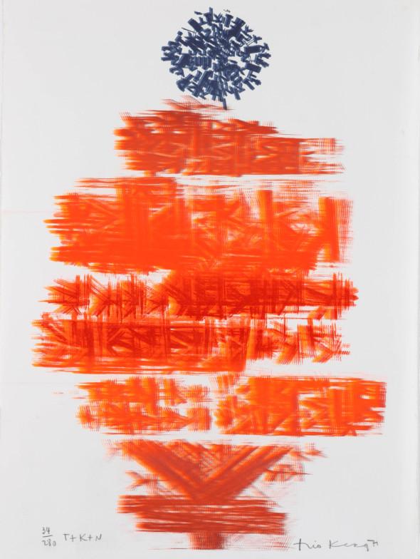 Théo Kerg, T+K+N, Litho 34-280, 1971, Kunstmuseum Bayreuth