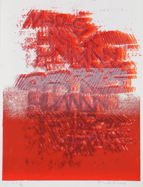 Théo Kerg, V-XX, Litho, Kunstmuseum Bayreuth