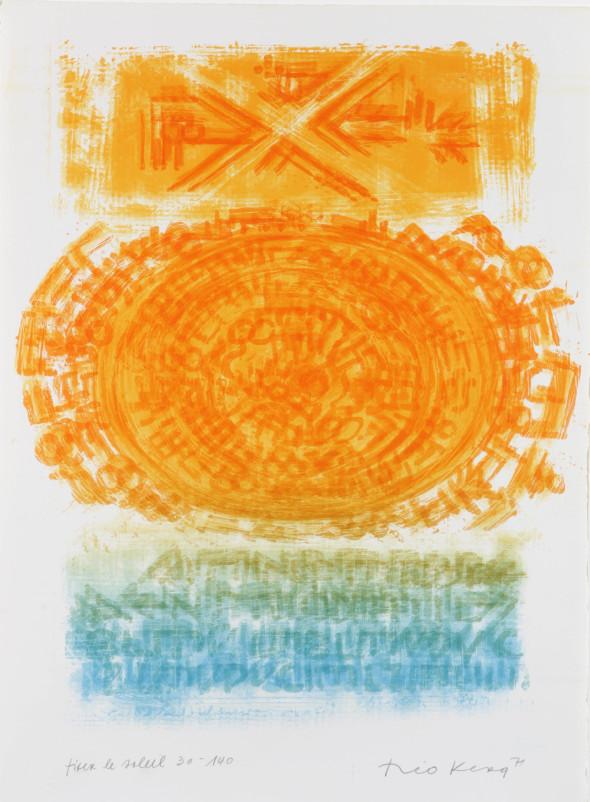 Théo Kerg, fixer le soleil, Litho 30-140, 1971, Kunstmuseum Bayreuth