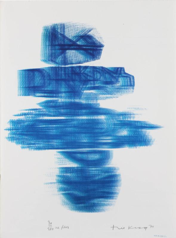Théo Kerg, ne plus, Litho 30-280, 1971, Kunstmuseum Bayreuth