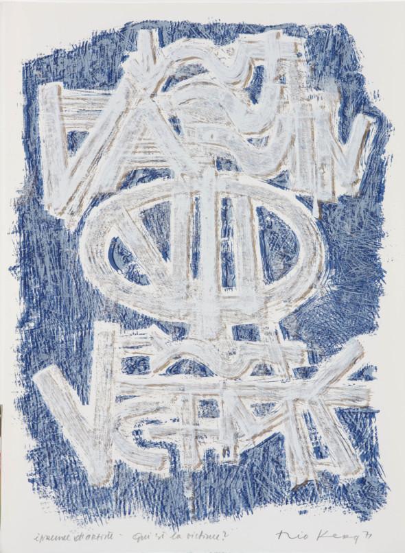 Théo Kerg, qui est la victime?, Litho, épreuve d'artiste, 1971, Kunstmuseum Bayreuth