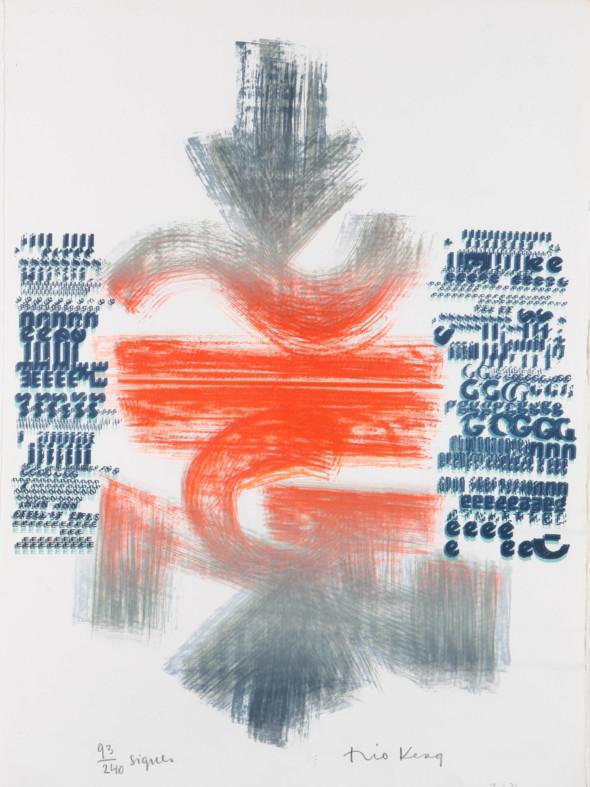 Théo Kerg, signes, Litho 93-240, Kunstmuseum Bayreuth