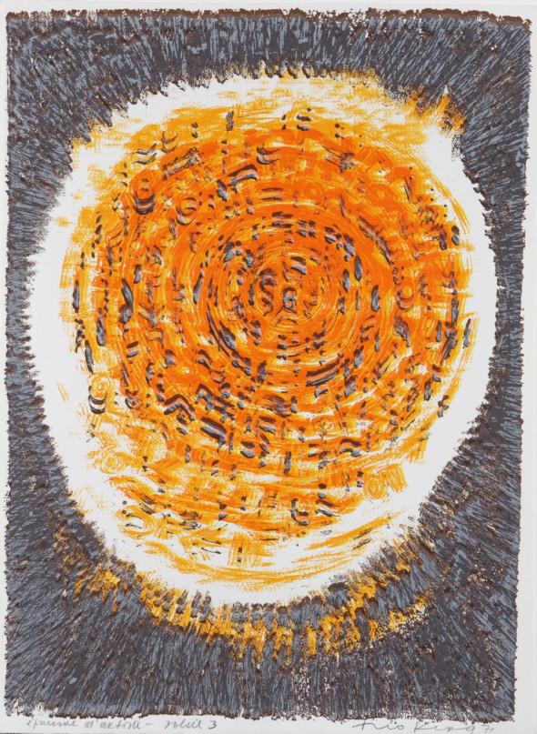 Théo Kerg, soleil 3, Litho, épreuve d'artiste, 1971, Kunstmuseum Bayreuth